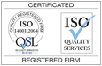 ISO 14001 certification from ISO Quality Services Ltd